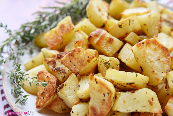 Garlic-Herb-Roasted-Potatoes-Rosemary-Thyme-by-Five-Heart-Home ...