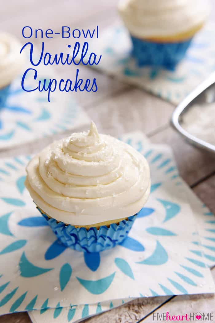 One-Bowl Fluffy Vanilla Cupcakes
