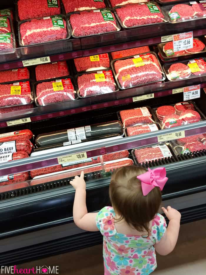 Annie Picking out the Perfect Ground Beef