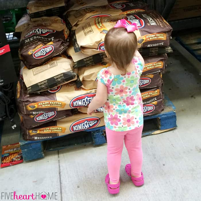Annie Telling Mommy Which Charcoal to Buy