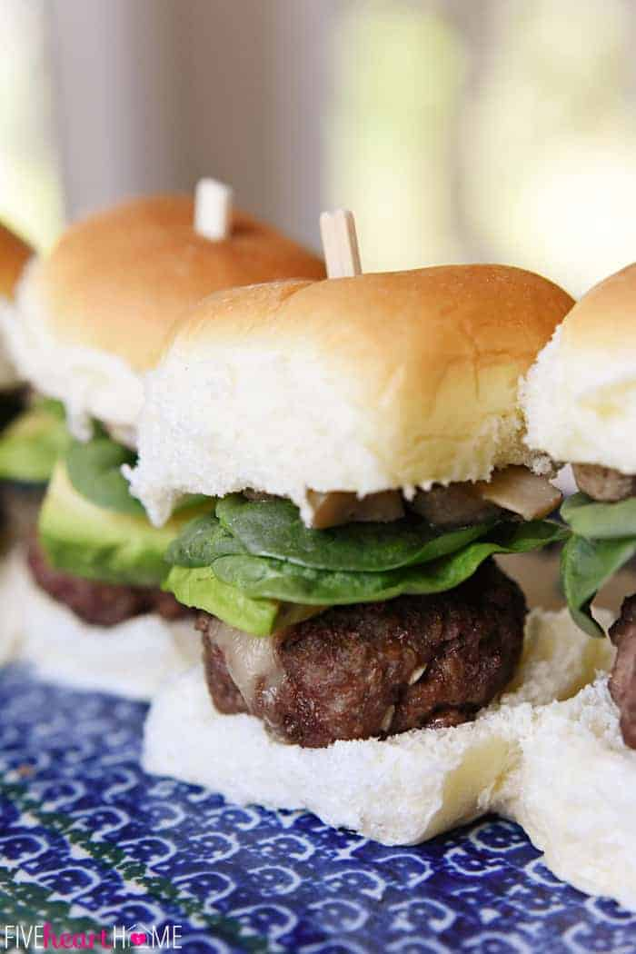 Close-Up of The ULTIMATE Cheeseburger Sliders