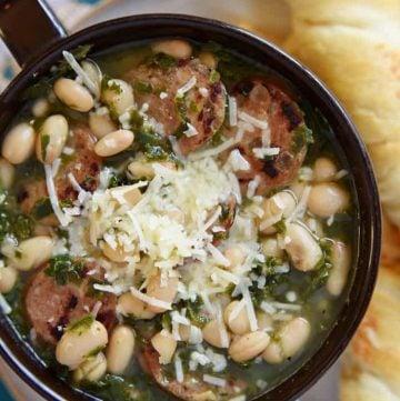 Sausage Kale White Bean Soup.