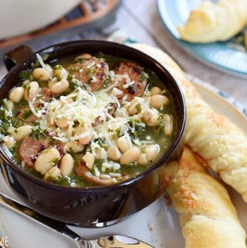 Easy White Bean, Kale, & Sausage Soup