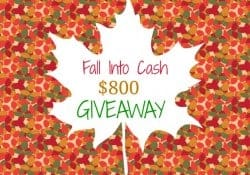 Fall Into Cash $800 GIVEAWAY