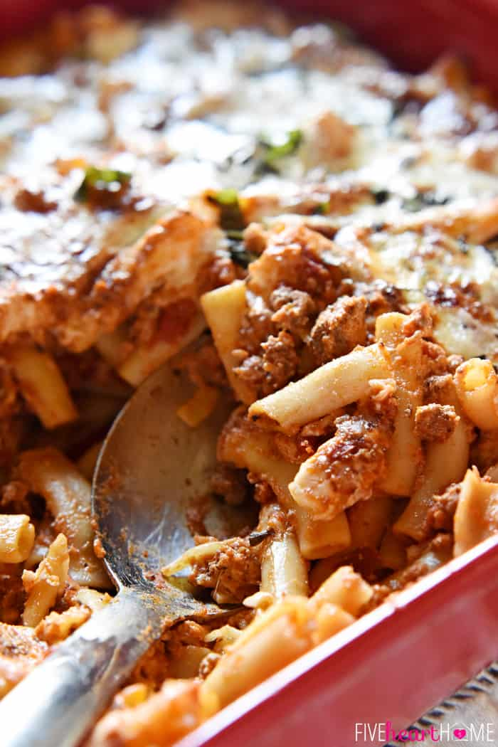 Baked ziti baked ziti easy to make and oozing with cheese this pasta dish is comfort forumfinder