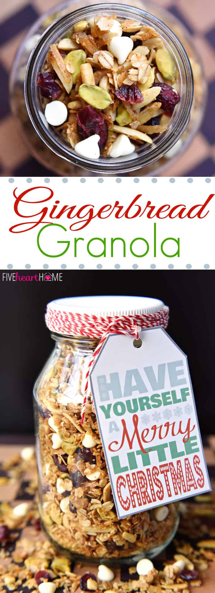 Gingerbread Granola with Cranberries, Pistachios, and White Chocolate ...