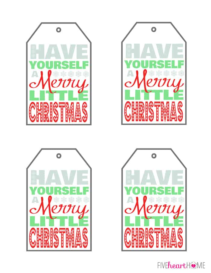 Slobbery image in merry christmas tags printable