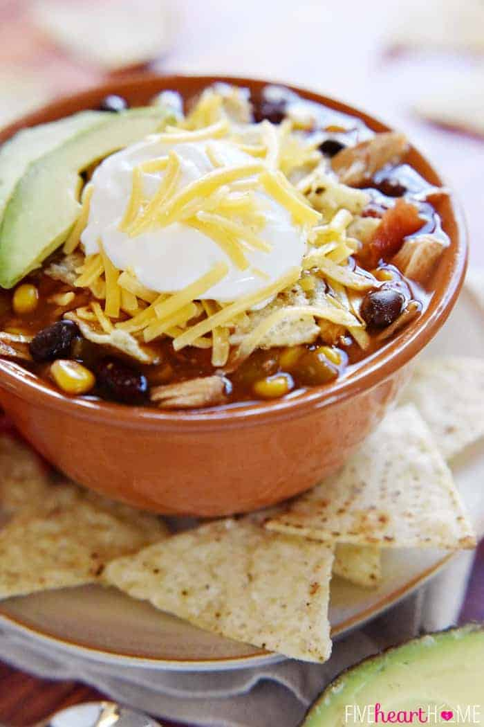 Slow Cooker Chicken Tortilla Soup ~ this effortless, hearty, taco ...