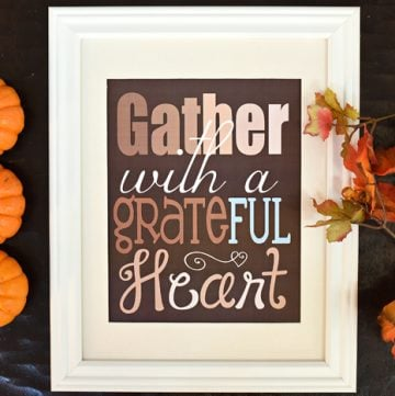 "Thanksgiving Quote Free Printable ~ ""Gather with a Grateful Heart"""