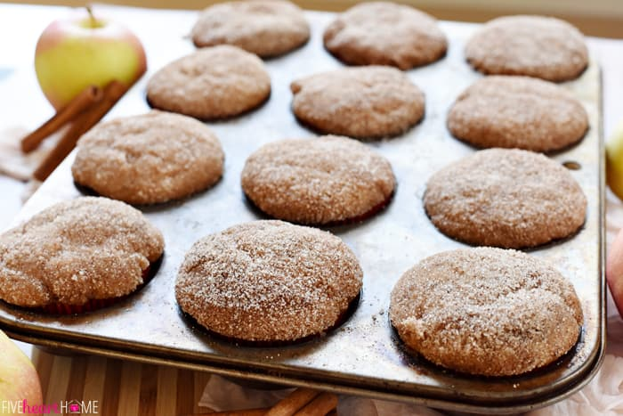 Whole Wheat Apple Cinnamon Muffins are soft and moist, bursting with ...