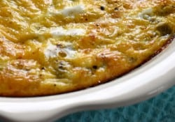 Green Chile Cheddar Egg Bake