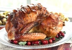 Maple-Glazed Turkey with Bacon and Sage Butter