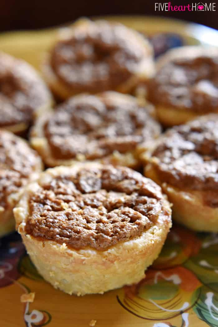 Close-Up of Mini Pecan Pie Tarts