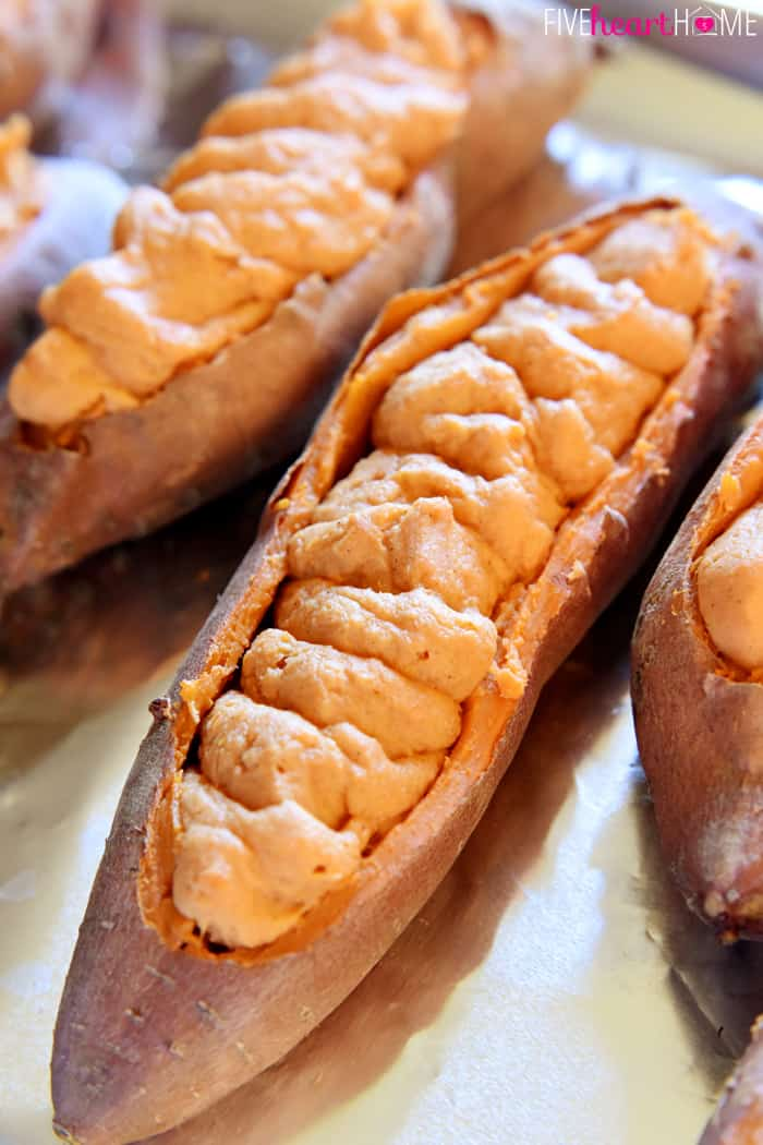 sweet potatoes maple cinnamon twice baked baked sweet potatoes stuffed ...