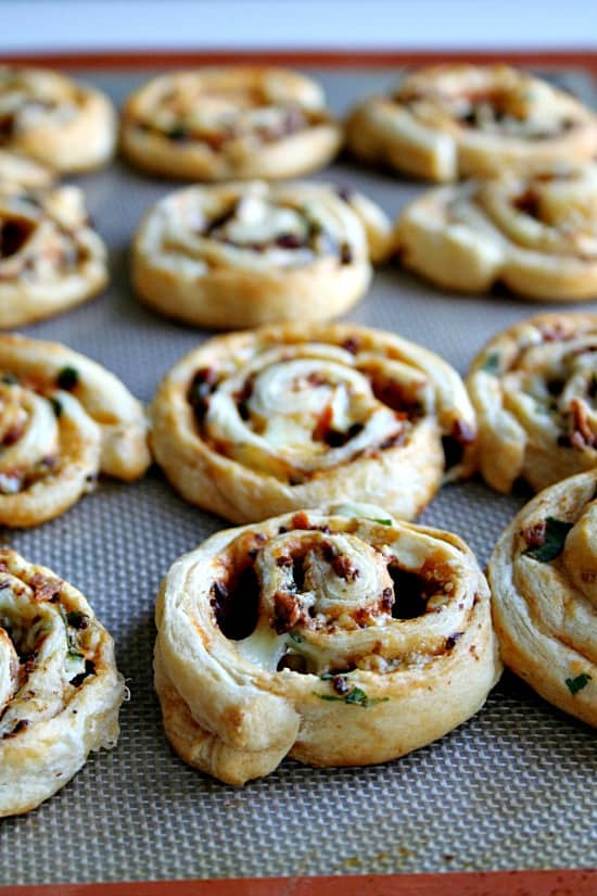 Buffalo Bacon Bleu Cheese Pinwheels