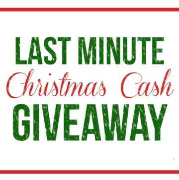 Last-Minute Christmas Cash Giveaway!