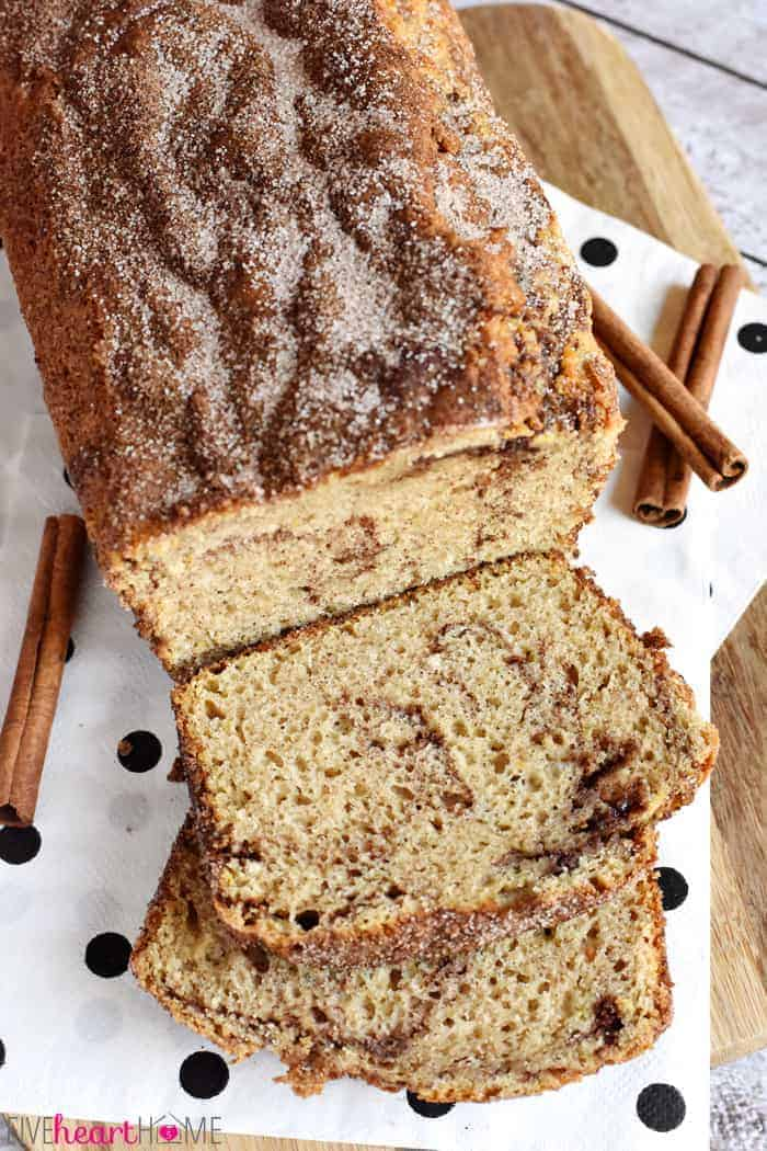 The Best Cinnamon Bread No Yeast Quick Bread Fivehearthome