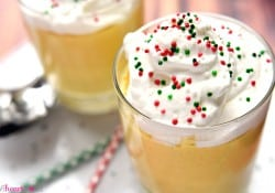 Eggnog Pudding with Whipped Cream