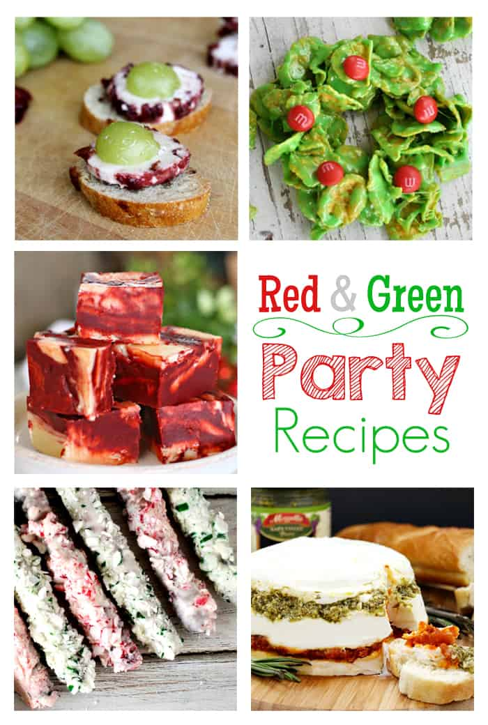 Red and Green Party Recipes | Moonlight and Mason Jars Link Party