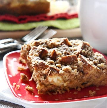 Overnight Gingerbread Baked French Toast with Streusel Topping