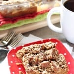 Overnight Gingerbread Baked French Toast Casserole with Streusel Topping ~ full of warm spices, maple syrup, and molasses, this is the perfect, make-ahead holiday breakfast, from Christmas to New Year's! | FiveHeartHome.com