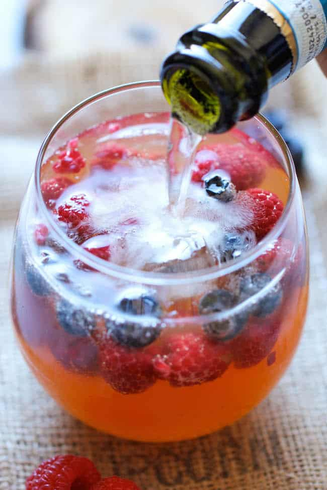 Peach Prosecco Punch