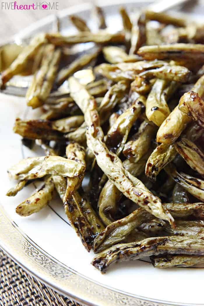 Roasted Balsamic Green Beans ~ like caramelized green bean French ...