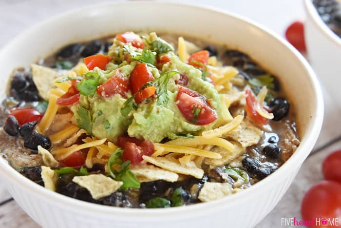 Black Bean and Chicken Soup ~ a hearty, healthy, effortless crock pot ...