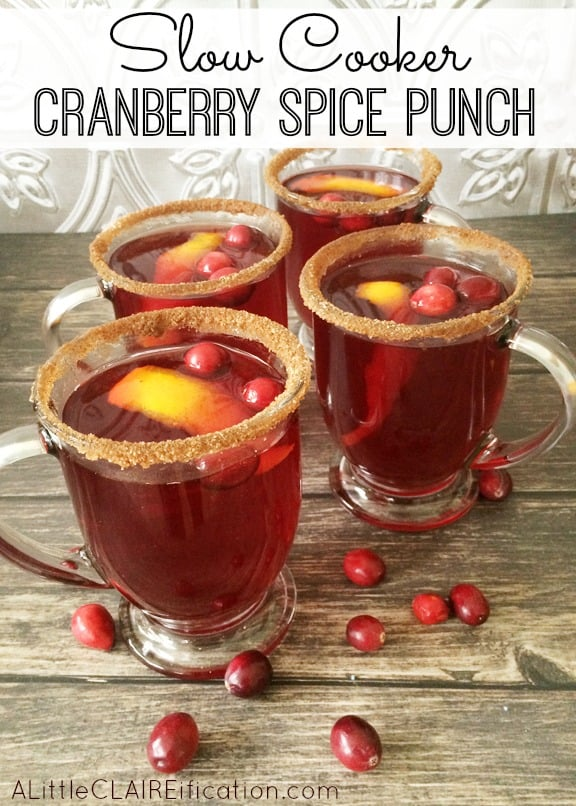 Slow Cooker Cranberry Spice Mulled Punch
