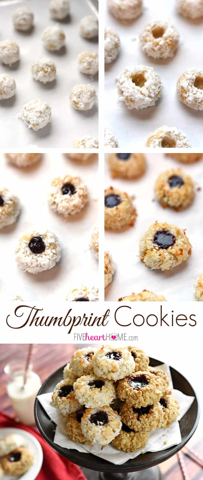 Thumbprint Cookies Collage with Text Overlay