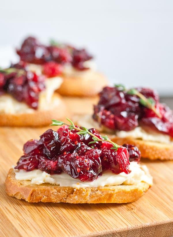 Cranberry Brie Crostini