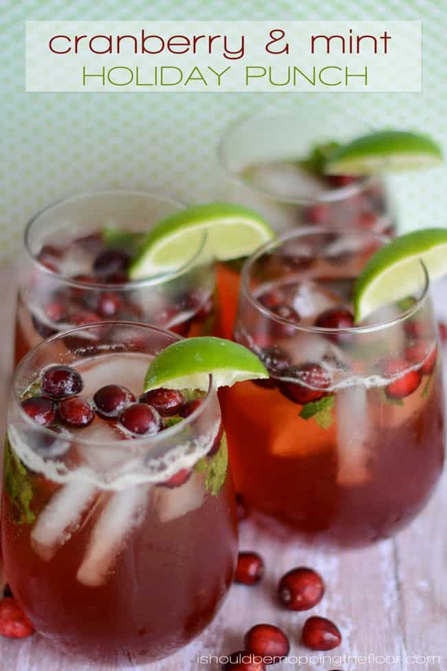 Cranberry & MInt Holiday Punch
