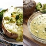 Broccoli Cheese Sauce for Baked Potatoes ~ this all-natural cheese sauce is quick and easy to make, featuring real cheddar instead of processed cheese | FiveHeartHome.com