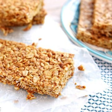 Oats and Honey Granola Bars ~ these homemade, all-natural granola bars are baked until slightly crunchy, making them the perfect breakfast-on-the-go or a wholesome, portable snack | FiveHeartHome.com