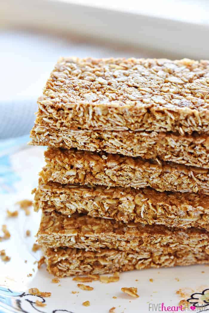 Stack of Oats and Honey Granola Bars