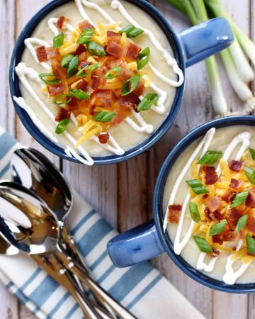 Slow Cooker Loaded Baked Potato Soup.