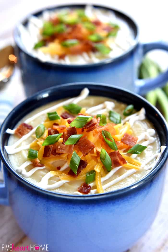 Recipes potato soup bacon cheese