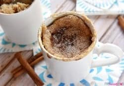Snickerdoodle Mug Cake ~ with Recipe Video!