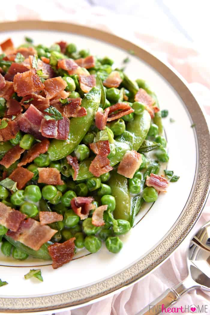 Creamy Spring Peas with Bacon + Mint ~ this ultimate Easter side dish ...