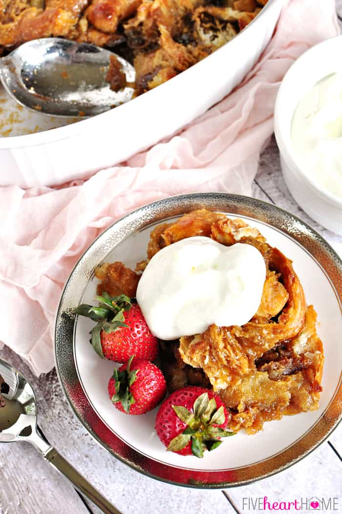 ... bread pudding, because bread pudding is a year-round kind of treat, am