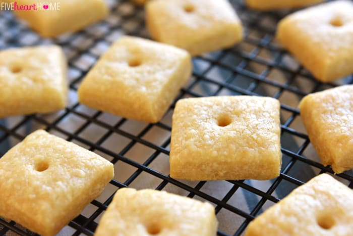 Tasty, savory, all-natural Homemade Cheese Crackers are not only kid ...