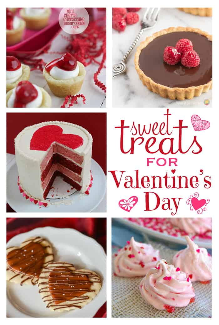 Sweet Treats for Valentine's Day (Dessert Recipes) | Moonlight & Mason Jars Link Party