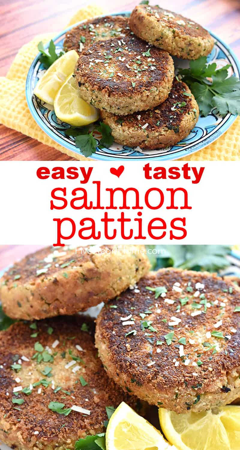 Salmon Patties collage with text