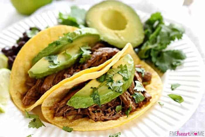 Slow Cooker Beef Barbacoa is flavored with smoked chipotles in adobo ...