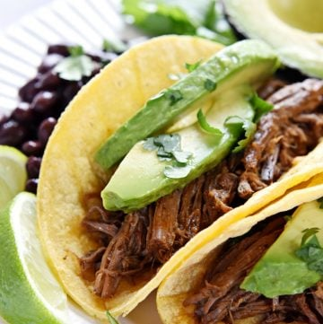 Slow Cooker Beef Barbacoa + VIDEO
