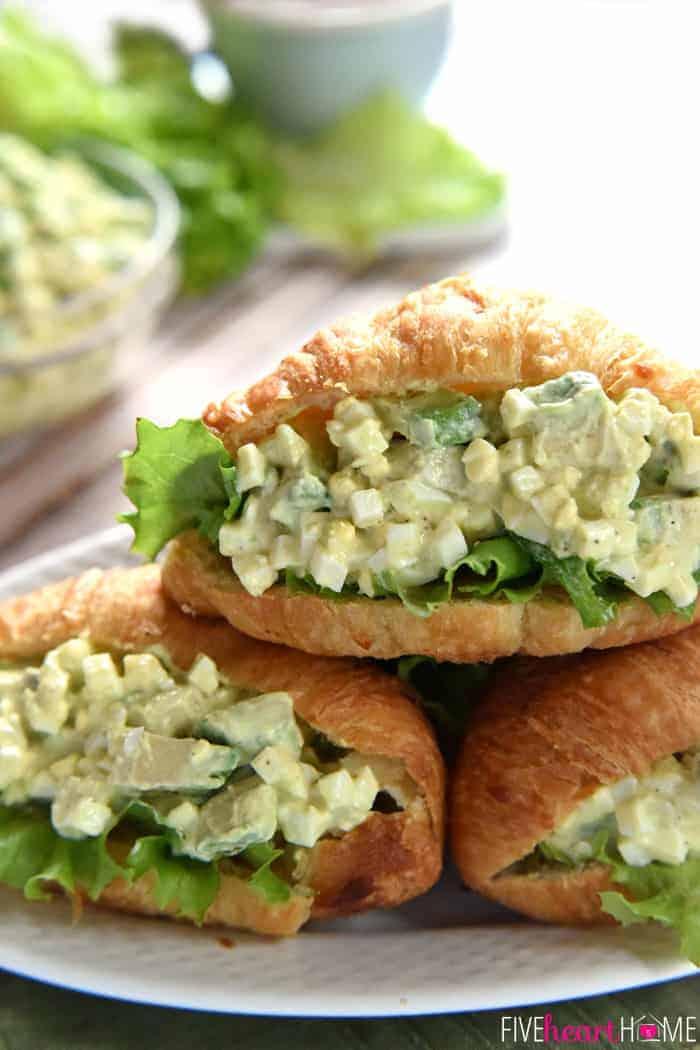 Avocado Egg Salad ~ avocado toast meets classic egg salad, lightened ...