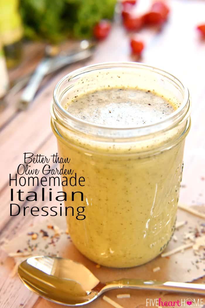 The best homemade buttermilk ranch dressing for Olive garden italian dressing recipe
