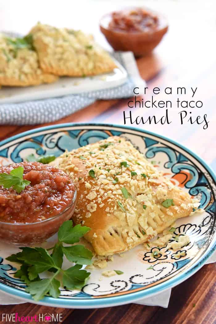 Creamy Chicken Taco Hand Pies with Text Overlay