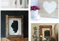 Moonlight & Mason Jars Link Party {#94} ~ DIY Wall Projects | FiveHeartHome.com