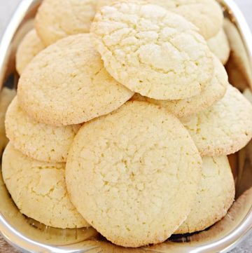Soft Sugar Cookies on a pewter platter.